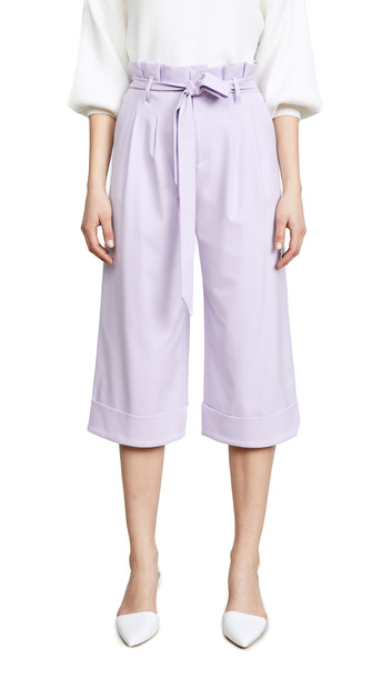 alice + olivia alice + olivia Ryan Paper Bag Pants in lilac
