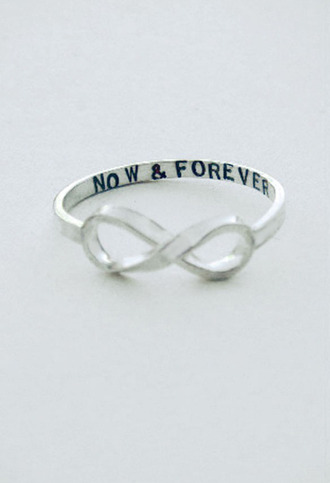 jewels ring now and forever infinty bag infinity infinity ring