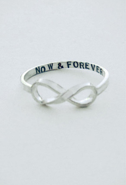 jewels ring now and forever infinty infinity infinity ring bag