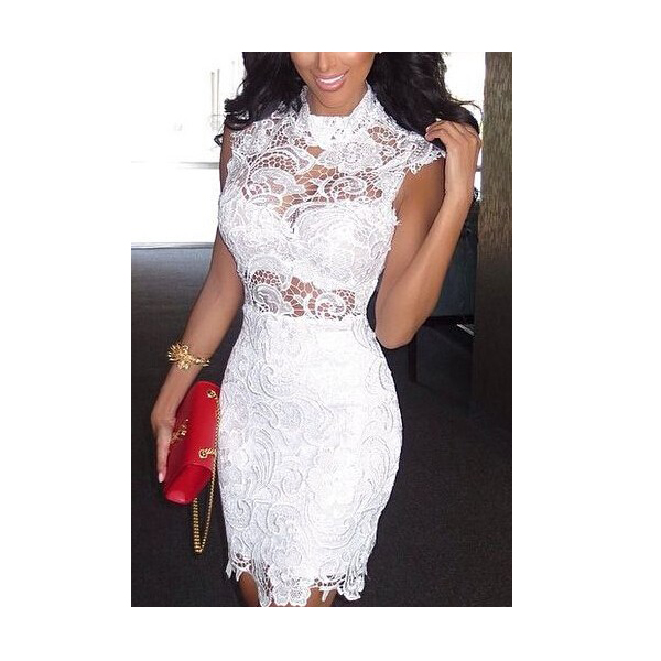 Fashion sexy lace high collar bodycon dress perspective. party dress · fe clothing · online store powered by storenvy