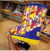 shoes,ugg boots,cartoon,superman,funny,style,black yellow