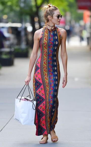 tribal pattern tribal print dress maxi dress aztec aztec dress long dress maxi
