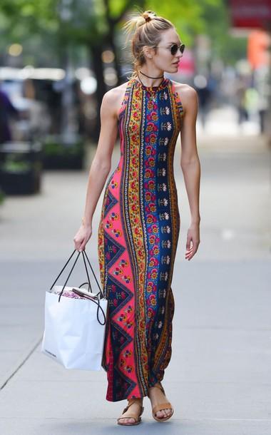 aztec aztec dress tribal pattern tribal print dress maxi dress maxi long dress
