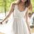 White Cocktail Dress - White Chiffon Sleeveless Dress with   UsTrendy