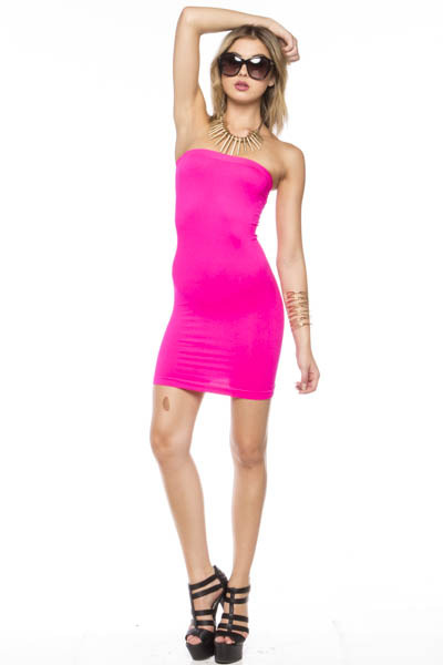 Hot pink tube dress · trendyish · online store powered by storenvy