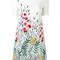 Goat - wildflower print dress - women - elastodiene/polyester/acetate/viscose - 6, white, elastodiene/polyester/acetate/viscose