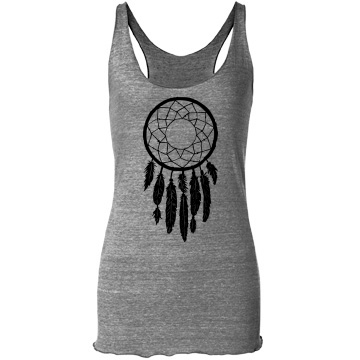 Dreamcatcher tank: custom junior fit bella triblend racerback tank top