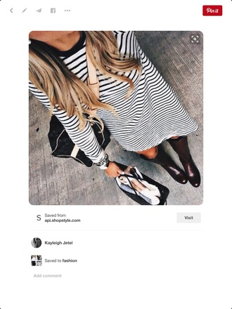 dress stripes long sleeves black and white stripes