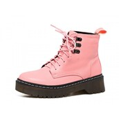 shoes,pink,shanghaitrends,DrMartens,platform shoes,boots,platform boots,chunky sole,cleated sole,pink boots,aw16