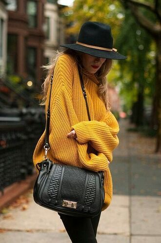 sweater yellow jumper yellow jumper knitwear oversized