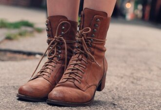 brown shoes flat low heels boots leather
