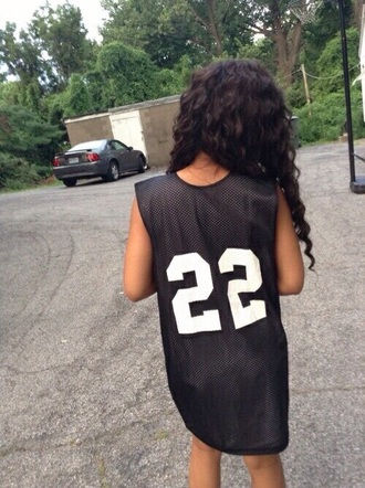 t-shirt black shirt dope swag fashion outfit black dress jersey jersey dress