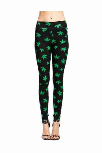 leggings marijuana mary jane