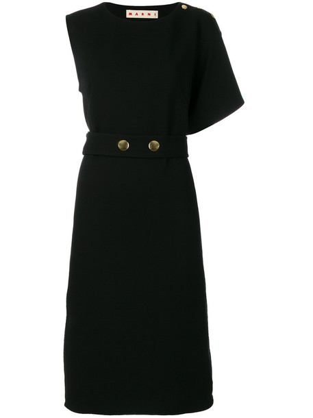 MARNI dress women cotton black