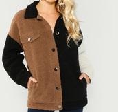 coat,girly,girl,girly wishlist,fur,fur coat,fur jacket,button up,sherpa,comfy,brown,black,nude