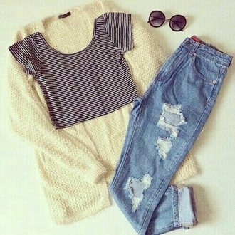 cardigan top shirt jeans retro grunge boyfriend jeans t-shirt hat