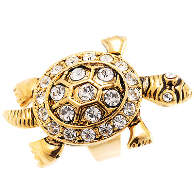 Antique Gold Turtle Fashion Ring - avalaya.com
