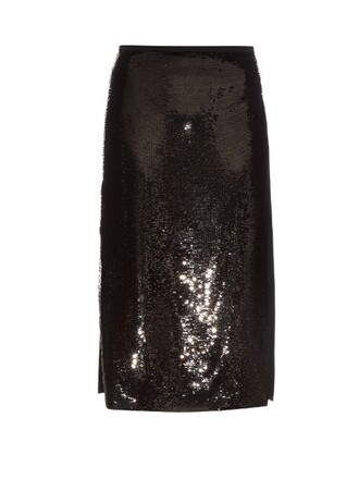 skirt midi skirt high midi black
