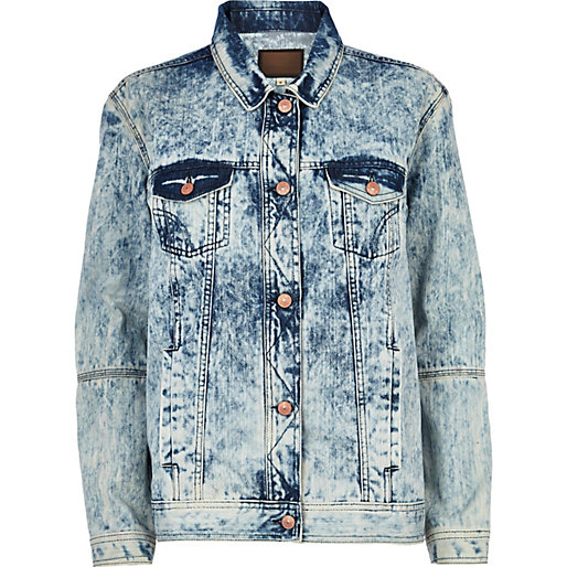Light acid wash denim jacket - coats / jackets - sale - women