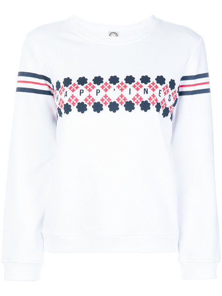 Ines de la Fressange sweatshirt embroidered women white cotton sweater