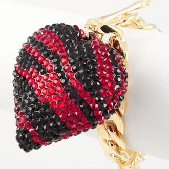 jewels heart heart charm bracelets bracelet chains zebra print black and red gold braclet charm bracelet charm