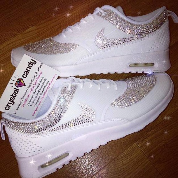 d9af85cba07d shoes, nike, sparkle, sparkle, white, sneakers, sports shoes, style ...