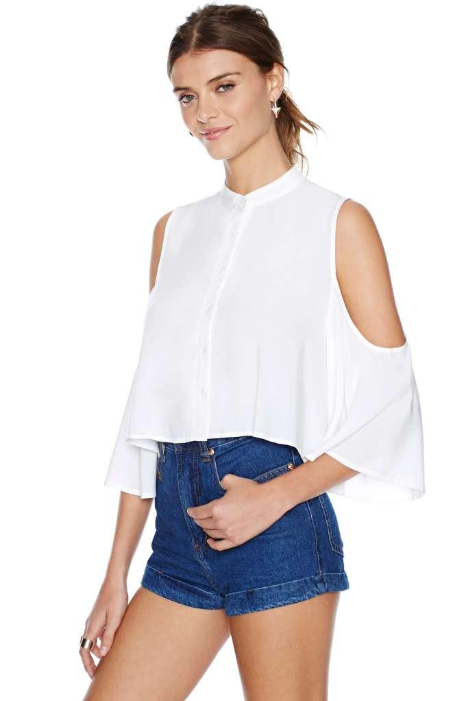 Cold Shoulder Blouse   Shop Shirts   Blouses at Nasty Gal