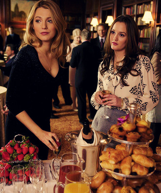 blouse bows bow blair waldorf gossip girl leighton meester