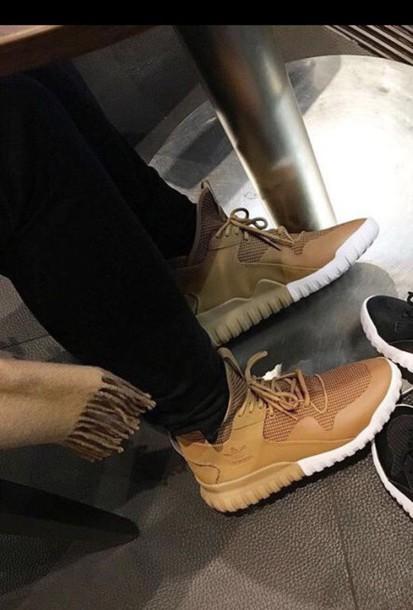 high top tan sneakers