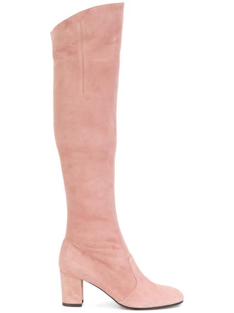 L'Autre Chose women leather suede purple pink shoes