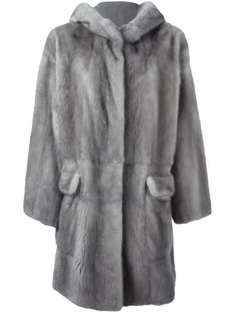 Liska coat fur coat fur women grey