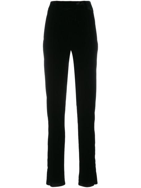 Saint Laurent high women cotton black pants