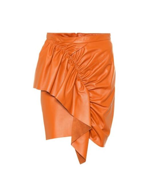 Isabel Marant Nela leather miniskirt in brown