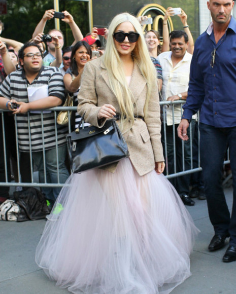 lady gaga beautiful skirt princess prom pink cute nude blonde cute dress