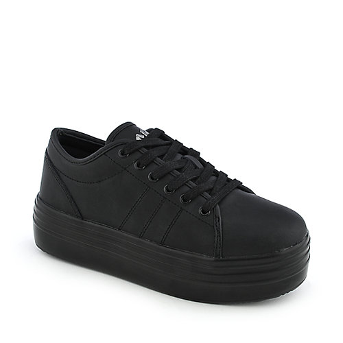 Buy cute to the core womens blyke low black platform shoes