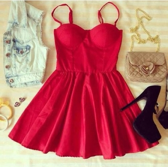 bustier dress bustier red dress