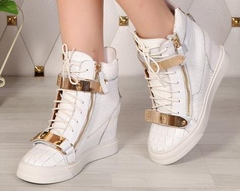 Top wedge sneakers
