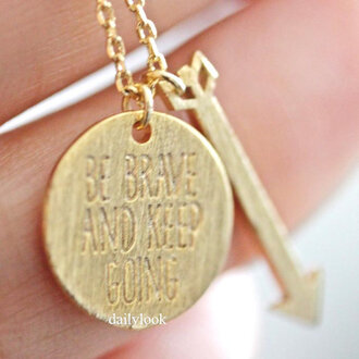 jewels arrow bestfriends necklace be brave and keep going be brave and keep going necklace woman necklace