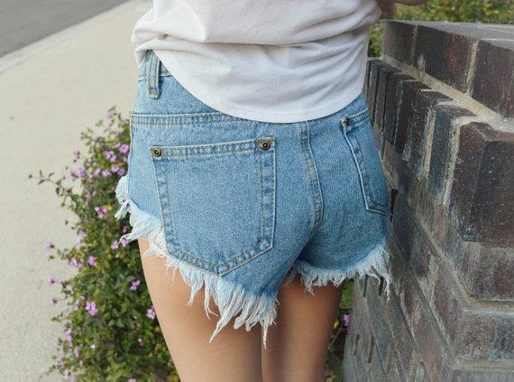 High waisted denim shorts 'basic' levis, calvin klein, lee