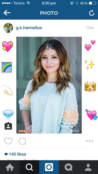 sweater dog with a blog disney straight jumper blue yellow gold baby blue smile g hannelius g. hannelius accessory