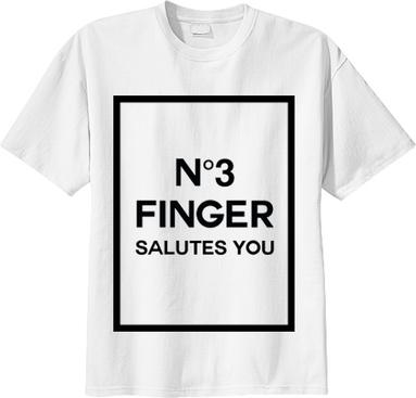 No 3 finger salutes you t