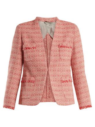 jacket white red
