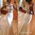 White A-line round neckline Lace Long Prom Dresses, Wedding Dress - 24prom