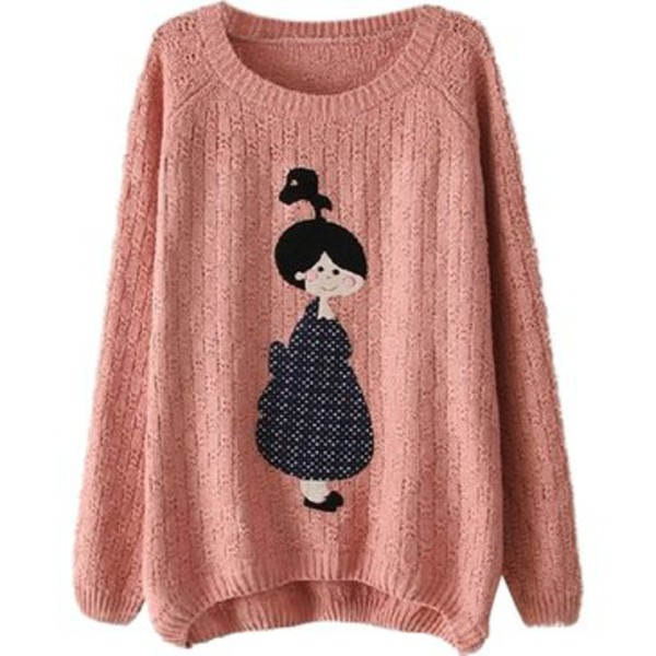 girl comfy big long sleeves winter outfits winter sweater cold warm kawaii