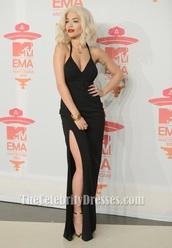 dress,black dress,prom dress,black,evening dress,gown,rita ora