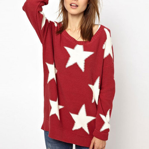star sweater cute sweet