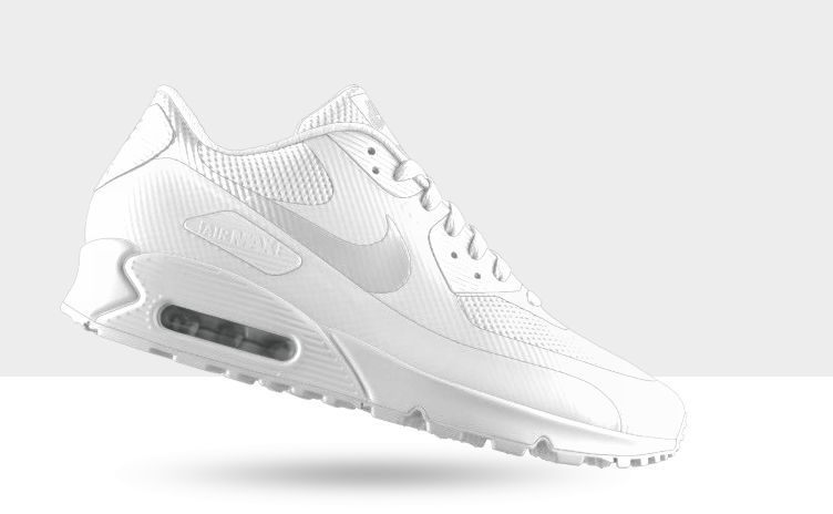 Nike Air Max 90 Hyperfuse Premium White Independence Day USA ALL SIZES SOLAR RED