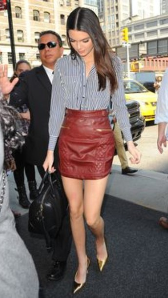 skirt kendall jenner kardashians model blouse
