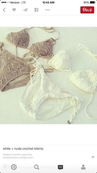 swimwear bikini boho swimwear crochet bikini