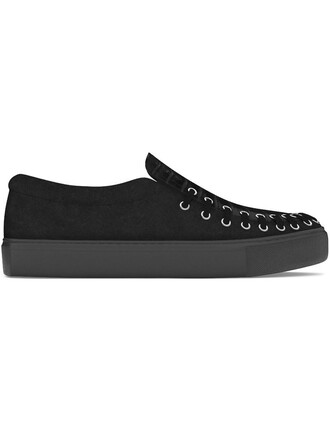 women sneakers leather suede black crocodile shoes